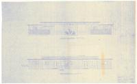 Front and rear elevations: Proposed duplex for Shaw and Virginia Benderly