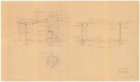 Fireplace plan and sections EE and FF: One story residence for Mr. G. H. Dorr...