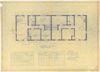 Floor plan: Door and window schedule