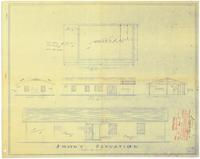 Exterior elevations and foundation plan. 1 of 2