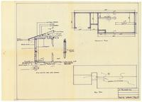 Foundation plan and roof plan: Wall section. Page 4