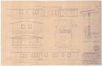 Plot plan, elevations and wall sections. 3 of 3