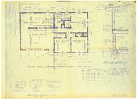 Floor plan, upper and middle levels: Kitchen details and section AA. Sheet 2...