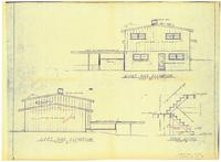 Right and left side elevations: Stair details. Sheet 4 of 5
