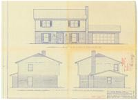 Front, left and right side elevations. 1