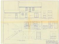Rear elevation and interior details. 4