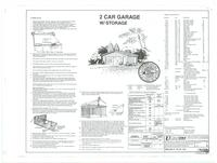 2 car garage: cover for set of plans. 1 of 4