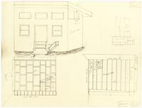 Floor plan and back wall. 2 of 2