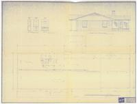 Foundation plan and right elevation: The Hilton (plan). 3