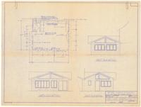Exterior elevations and floor plan