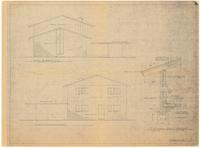 Left and right side elevations: Typical wall section. 4 of 4