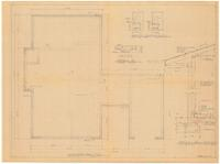 Foundation plan and typical wall section. 1 of 3