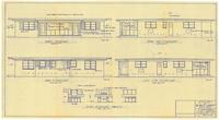 Exterior elevations and interior details. 3 of 3
