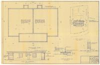 Foundation plan and plot plan. 1 of 3
