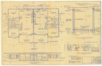 Floor plan and typical wall sections. 2 of 3