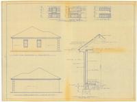Left and right side elevations: Typical wall section