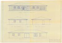 Exterior elevations: Addition. 1