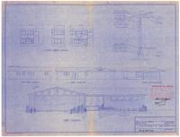 Exterior elevations and typical wall section. 2